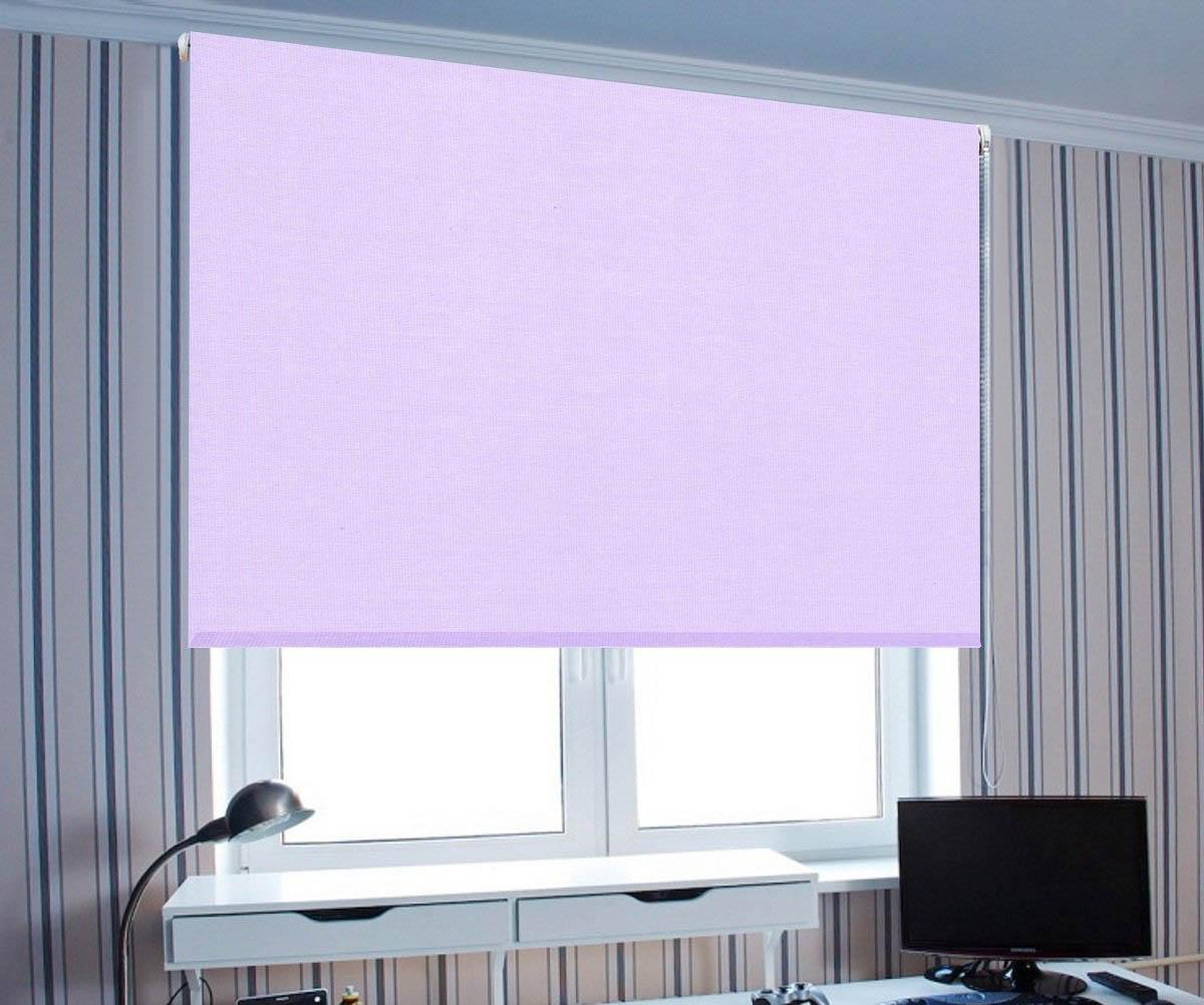 Купить Римские и рулонные шторы Eclipse, Миниролло Zelophehad Цвет: Сиреневый, Россия, Портьерная ткань