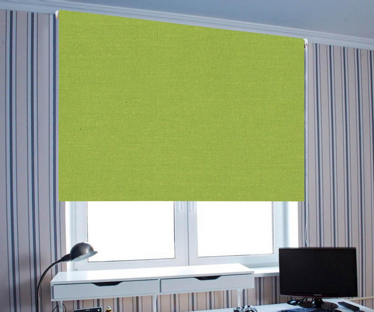 Купить Римские и рулонные шторы Eclipse, Миниролло Cameron Цвет: Зеленый (70х175), Россия, Портьерная ткань