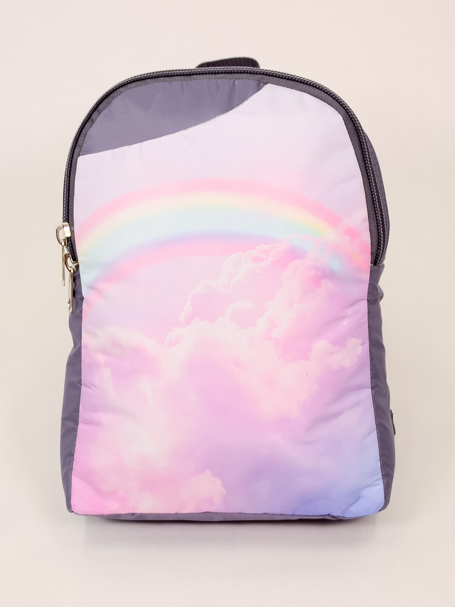 Рюкзак Радуга в розовых облаках (10х24х34 см) фото