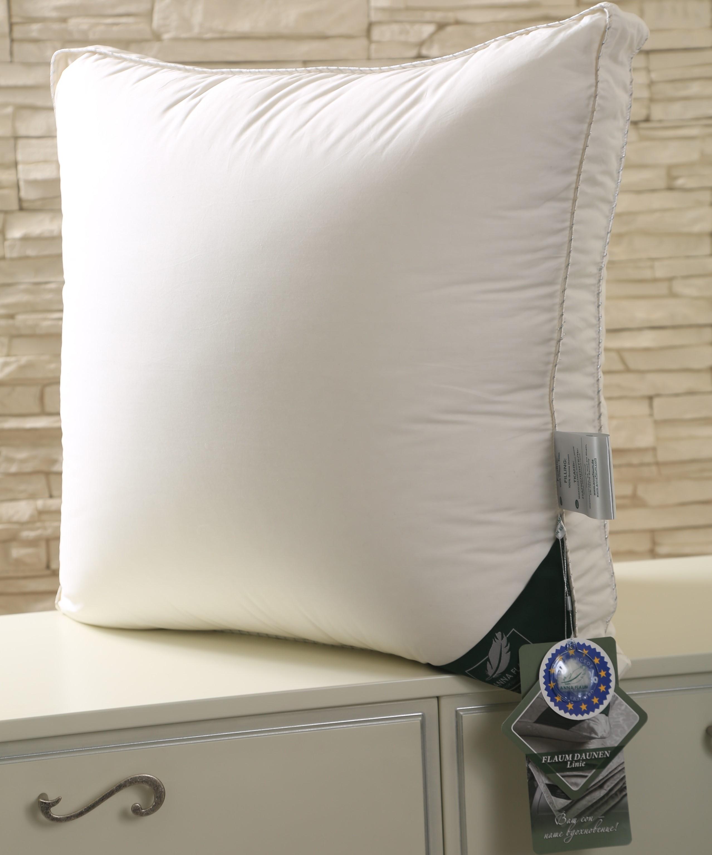 Подушка Sahne Средняя Цвет: Сливочный (70х70)