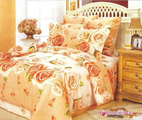 Купить Комплекты постельного белья СайлиД, Постельное белье Elif А/s-68 (2 сп.), Китай, Золотистый, Оранжевый, Поплин