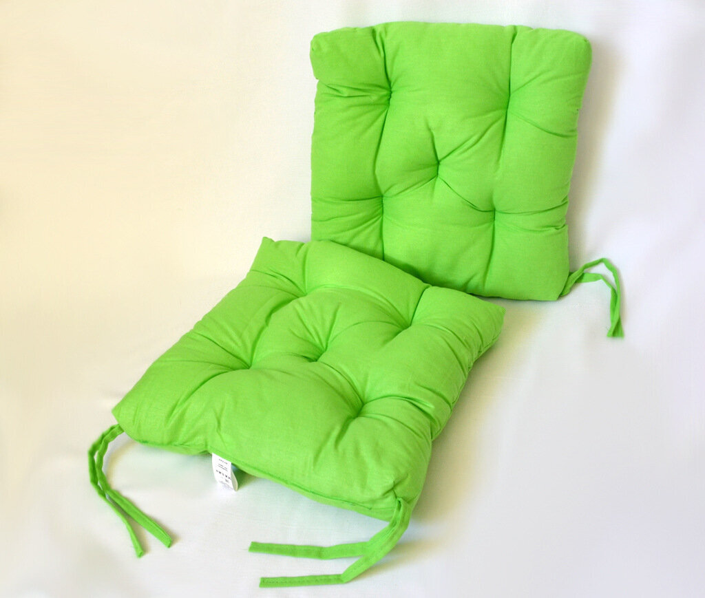 Подушка на стул Saily Цвет: Салатовый (35х35 см (2 шт))