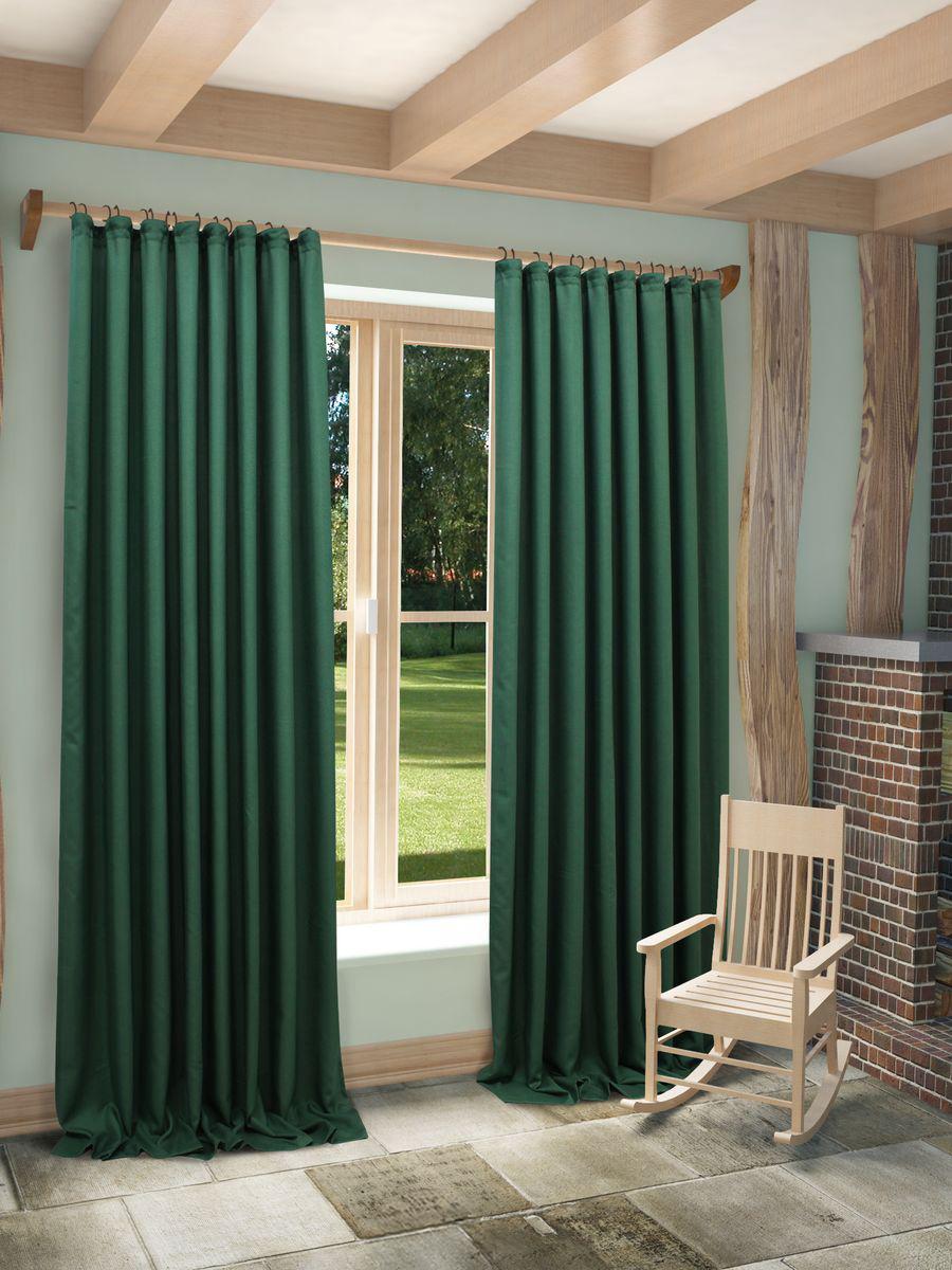 Купить Шторы Sanpa, Классические шторы Jessamyn Цвет: Зеленый, Россия, Портьерная ткань