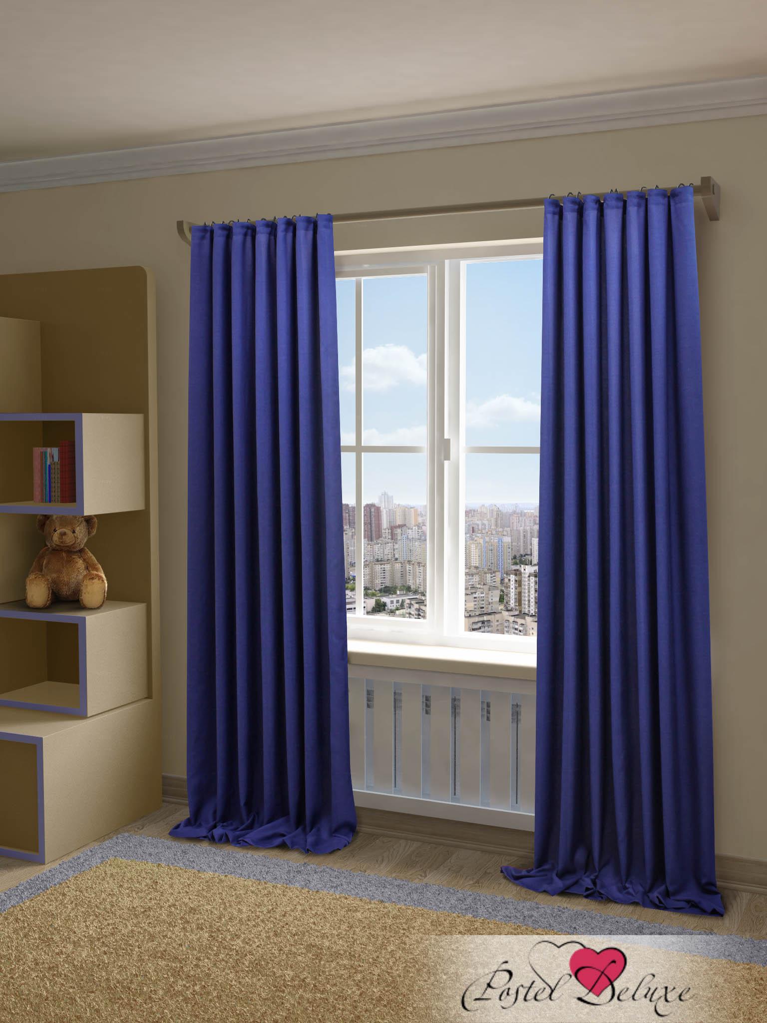 Купить Шторы Sanpa, Классические шторы Джоди Цвет: Синий, Россия, Портьерная ткань