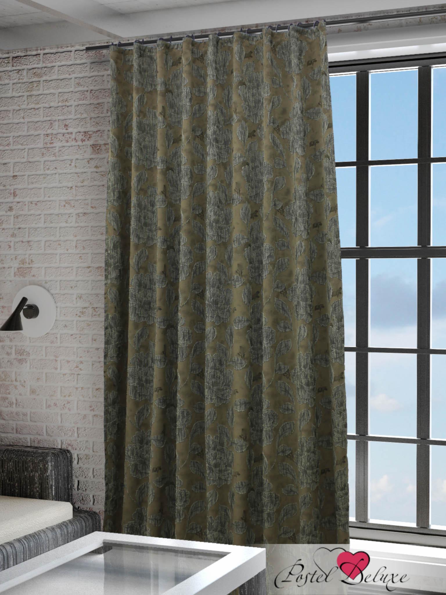 Купить Шторы Sanpa, Классические шторы Gorden Цвет: Серо-Коричневый, Россия, Коричневый, Серый, Жаккард