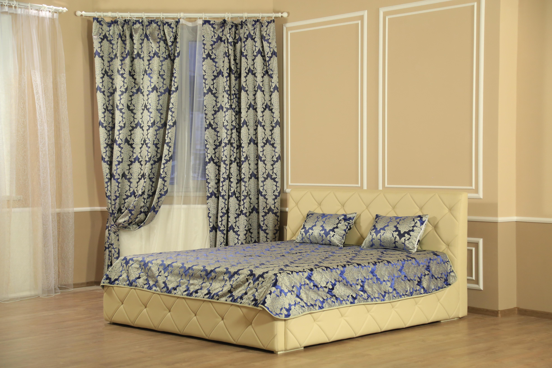 Шторы Marianna Комплект штор с покрывалом Версаль Цвет: Синий портьеры garden шторы