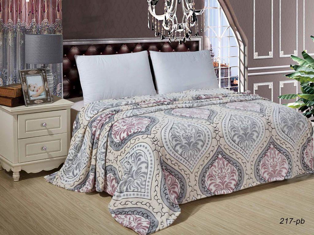 Купить Пледы и покрывала Cleo, Плед Бамбук (150х200 см), Китай, Розовый, Серый, Микрофибра