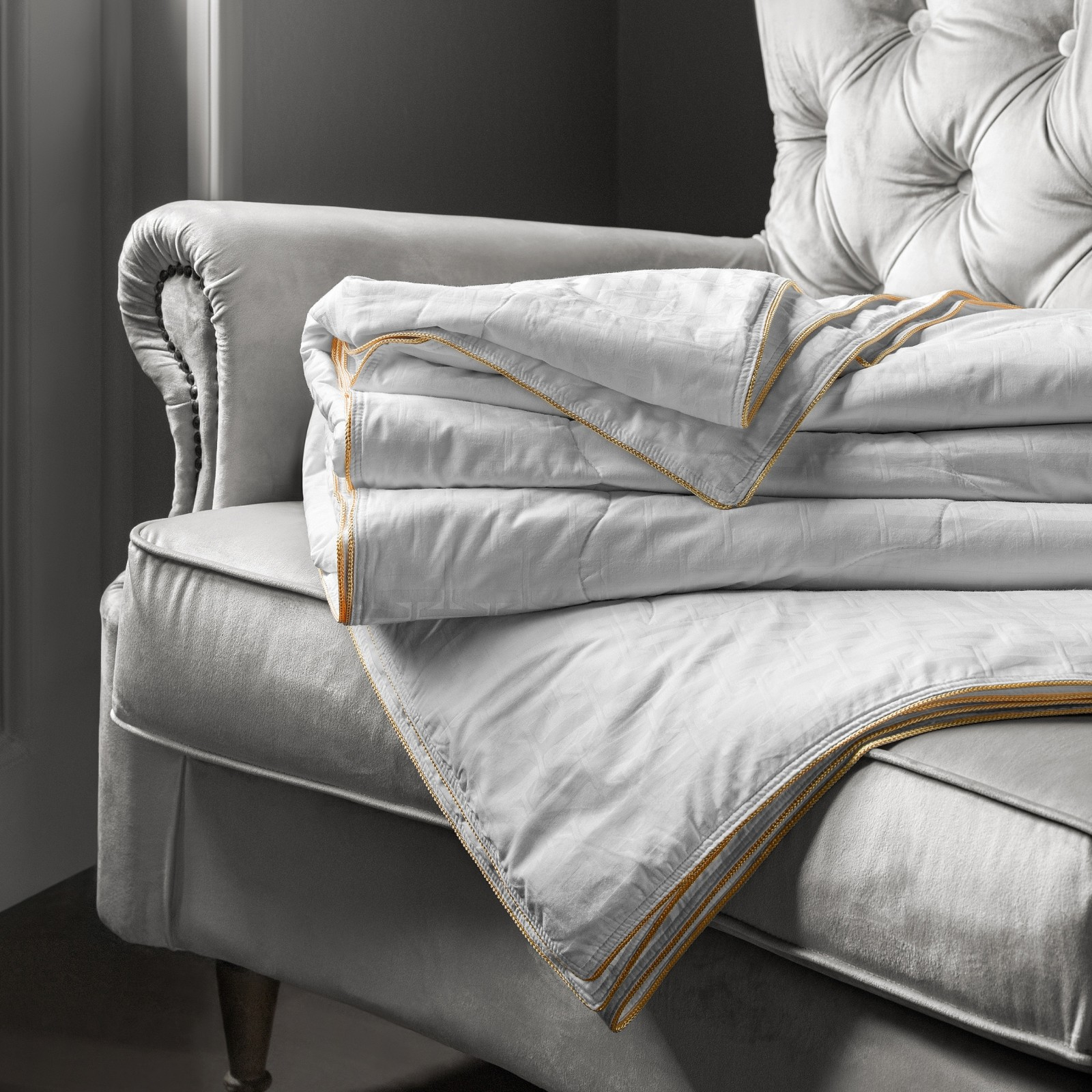 Купить Одеяла Togas, Одеяло Селена Лайт (200х210 см), Греция, Белый, Хлопковый жаккард