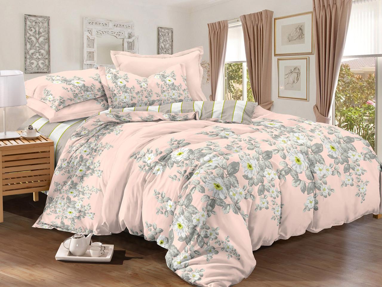 Купить Комплекты постельного белья Примавера, Постельное белье Norm (2 спал.), Китай, Розовый, Серый, Хлопковый сатин