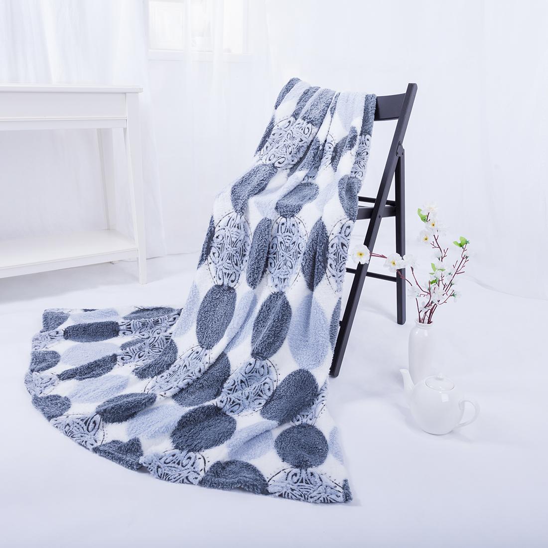 Купить Пледы и покрывала Eleganta, Плед Круги (180х200), Китай, Бамбуковый флис