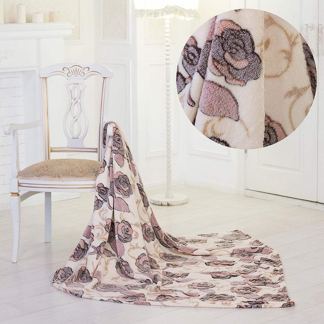 Купить Пледы и покрывала Eleganta, Плед Розы (180х200), Китай, Бамбуковый флис