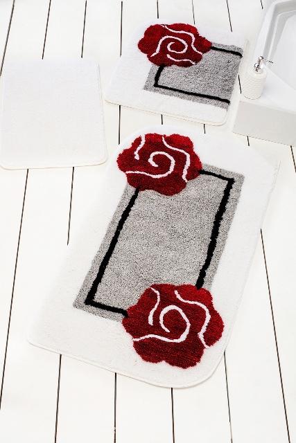 Коврики для ванной  туалета DO'n'CO    Dolce Цвет: Серый (60х100 см,50х60 )