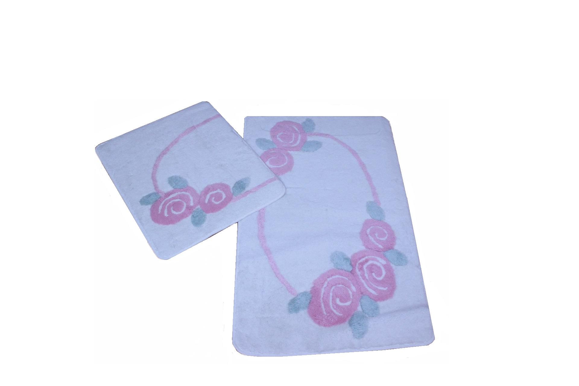 Коврики для ванной  туалета DO'n'CO    Roselin Цвет: Розовый (60х100 см,50х60 )