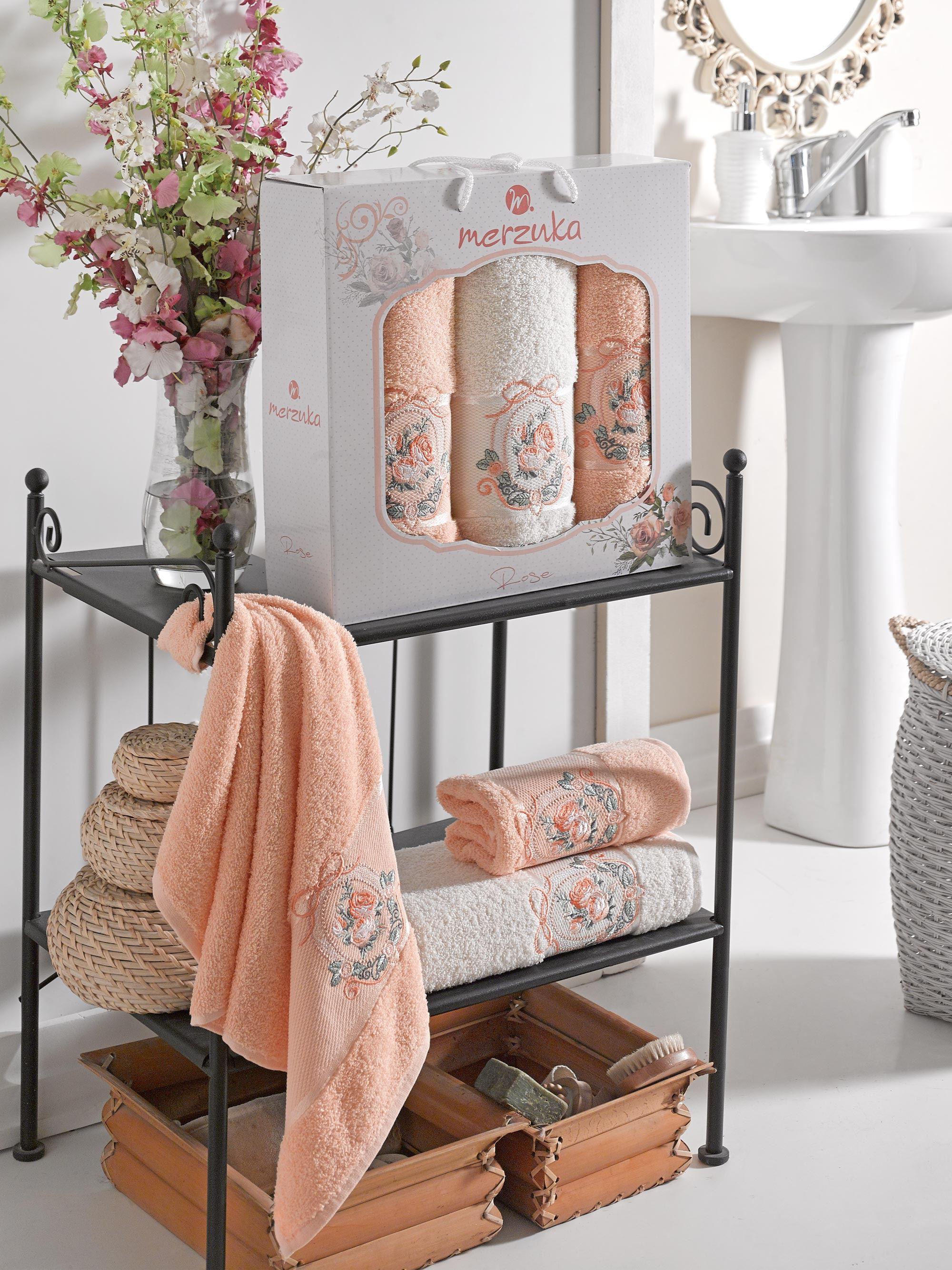 Полотенца Oran Merzuka Полотенце Rose Цвет: Оранжевый (50х80 см - 2 шт,70х130 см) оранжевый prime м 50х90 70х130 в коробке набор полотенец фиеста