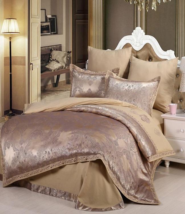 Купить Комплекты постельного белья DO'n'CO, Постельное белье Bezaleel Цвет: Коричневый (2 сп. евро), Турция, Хлопковый сатин