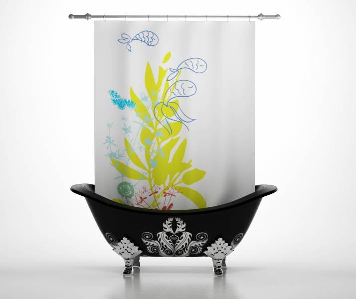 Шторы и карнизы StickButik Шторы для ванной Маленький Аквариум