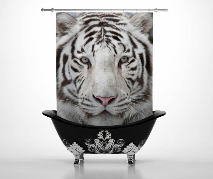 Шторы и карнизы StickButik Шторы для ванной Тигруля