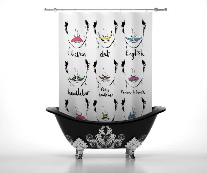 Шторы и карнизы StickButik Шторы для ванной Усики шторы stickbutik фотошторы театральный занавес