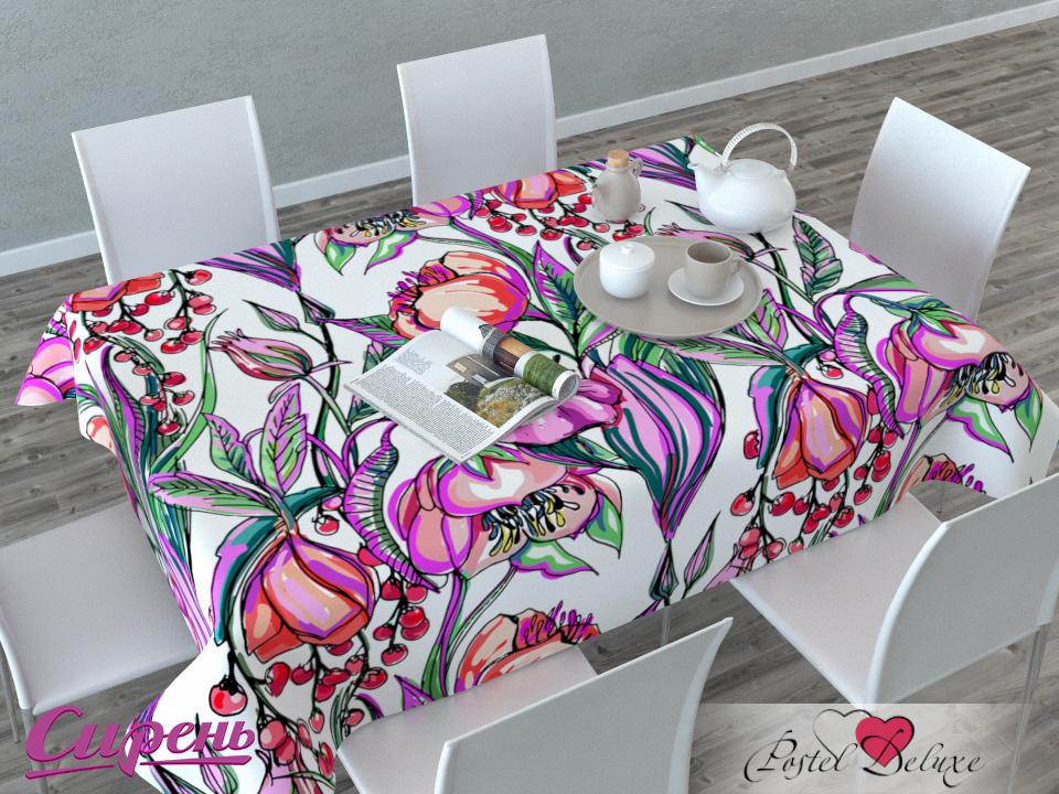 Скатерти и салфетки Сирень Скатерть Тюльпаны И Рябина (120х145 см) скатерти и салфетки сирень скатерть желтая орхидея 120х145 см