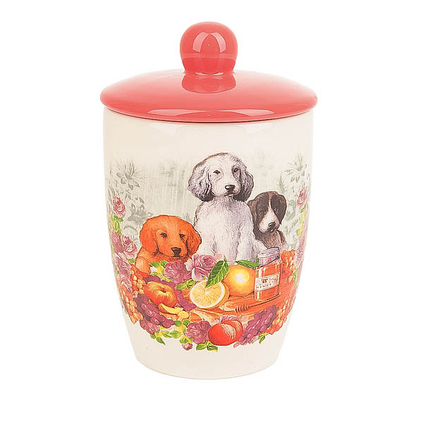 Купить Хранение продуктов Polystar, Банка для сыпучих продуктов Встреча (9х15 см), Китай, Розовый, Керамика