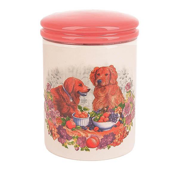 Купить Хранение продуктов Polystar, Банка для сыпучих продуктов Встреча (10х14 см), Китай, Розовый, Керамика
