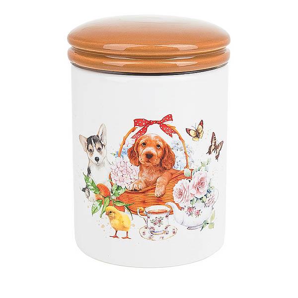 Купить Хранение продуктов Polystar, Банка для сыпучих продуктов Мимимишки (10х15 см), Китай, Оранжевый, Керамика