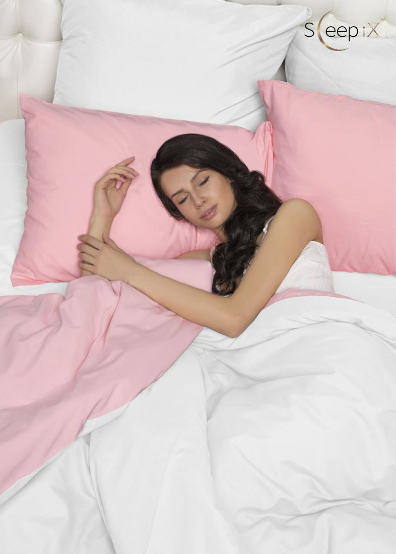 Купить Комплекты постельного белья Sleep iX, Постельное белье Perfection Цвет: Розовый + Нероли (2 сп. евро), Япония, Белый, Розовый, Микрофреш