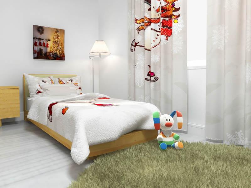 Купить Покрывала, подушки, одеяла для малышей StickButik, Детское покрывало Snegovik (145х220 см), Россия, Серый, Синтетический сатин