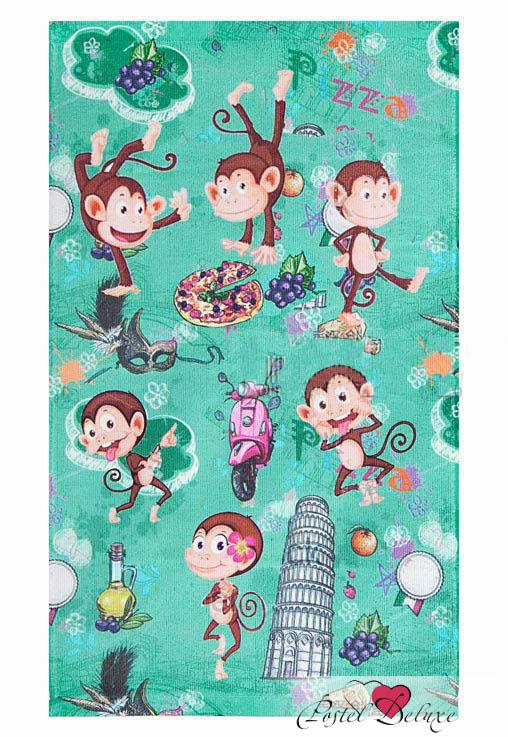 Купить Полотенца Soavita, Набор из 4 полотенец Monkey 3, Китай, Зеленый, Микрофибра
