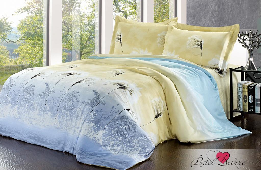 Купить Комплекты постельного белья SL, Постельное белье Isabell (2 сп. евро), Китай, Голубой, Желтый, Модал