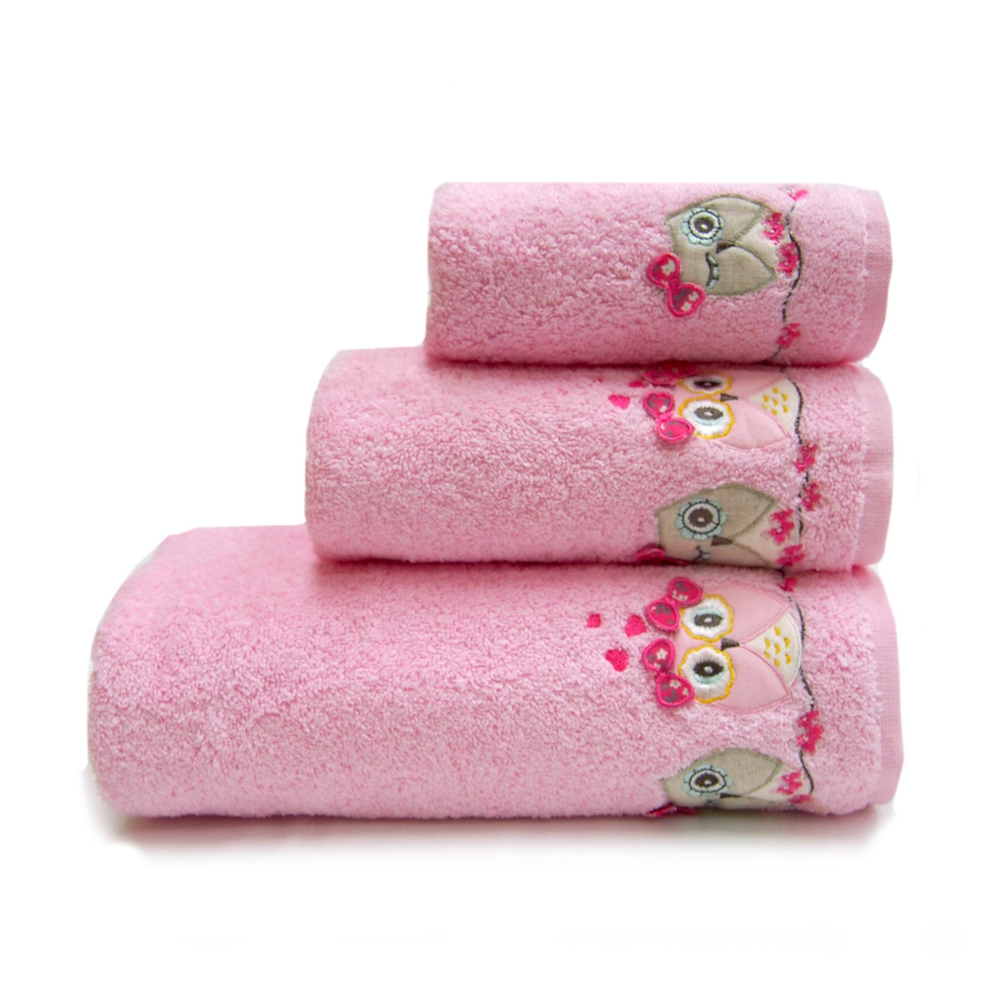 Детское полотенце Sovushka Цвет: Розовый (50х90 см) фото