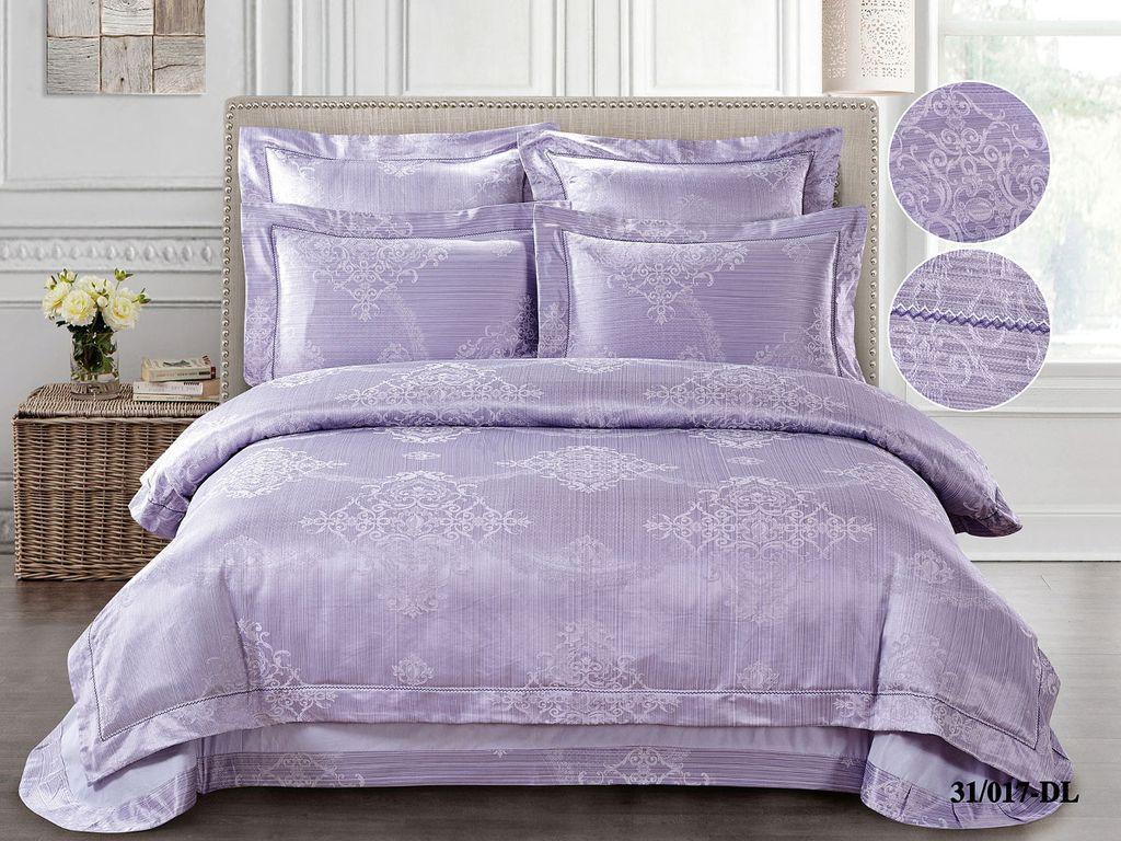 Купить Комплекты постельного белья Cleo, Постельное белье Kathy (2 сп. евро), Китай, Сиреневый, Хлопковый сатин