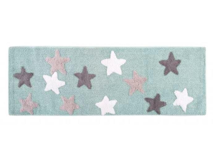 Купить Коврики для ванной и туалета IRYA, Коврик для ванной Star Aqua Цвет: Светло-Голубой (50х150 см), Турция, Махра