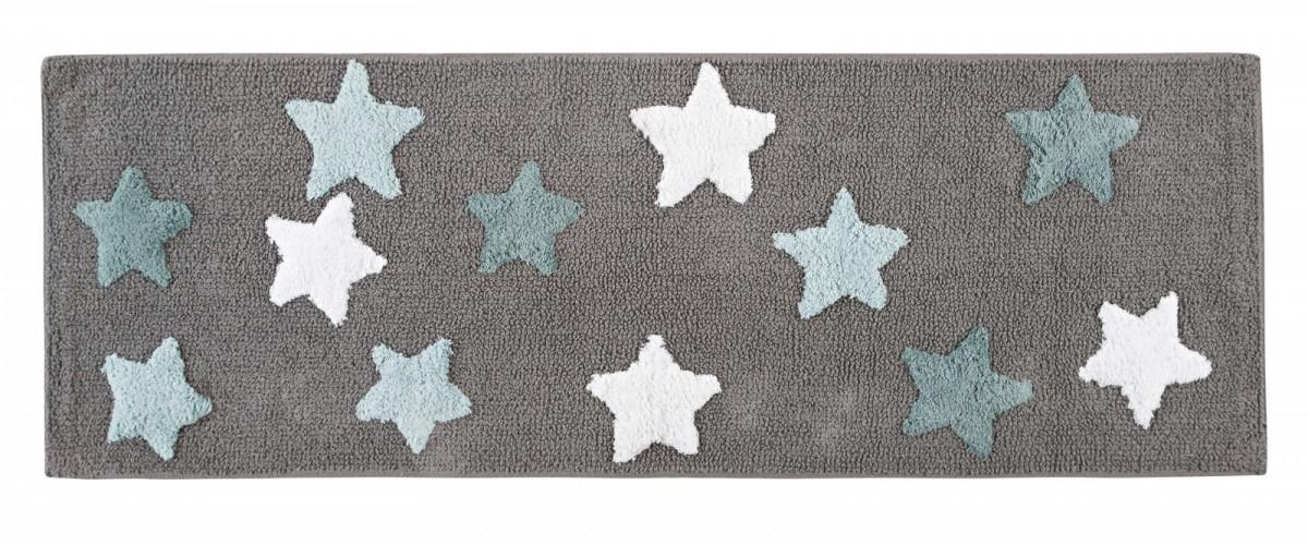 Купить Коврики для ванной и туалета IRYA, Коврик для ванной Star Gri Цвет: Серый (50х90 см), Турция, Махра