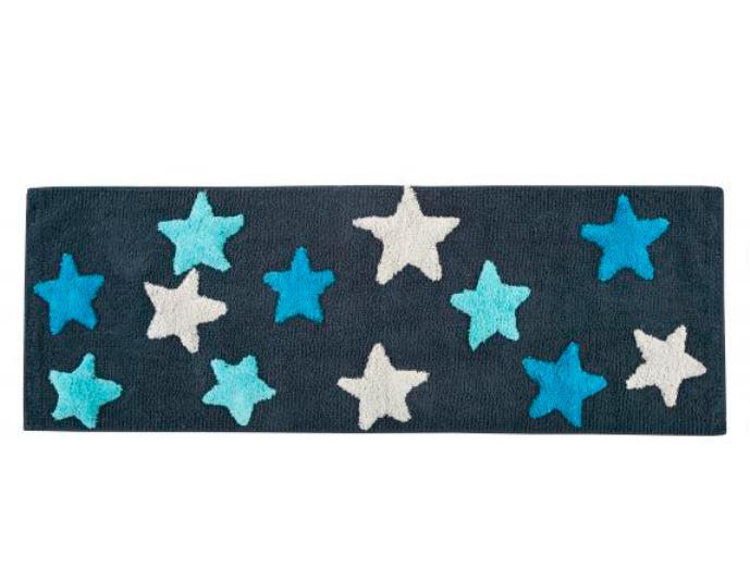 Купить Коврики для ванной и туалета IRYA, Коврик для ванной Star Mavi Цвет: Голубой (50х90 см), Турция, Махра