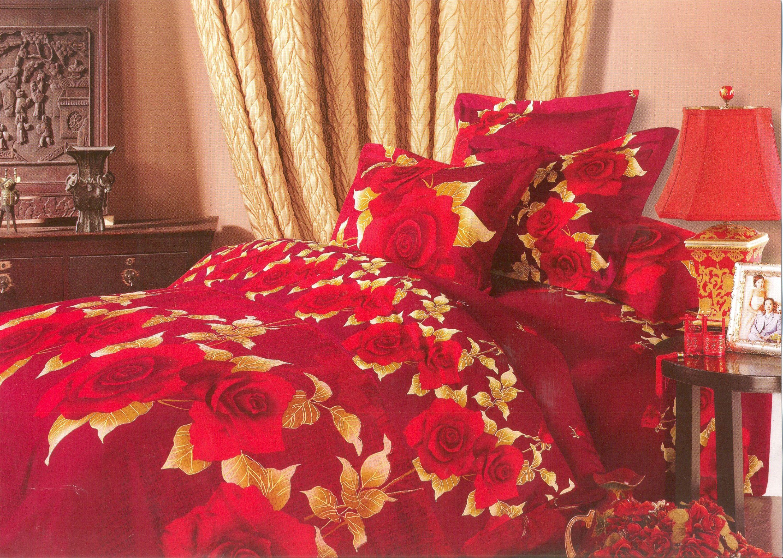 Купить Комплекты постельного белья СайлиД, Постельное белье Hillary Т-15 (2 сп. евро), Китай, Бордовый, Красный, Хлопковый сатин
