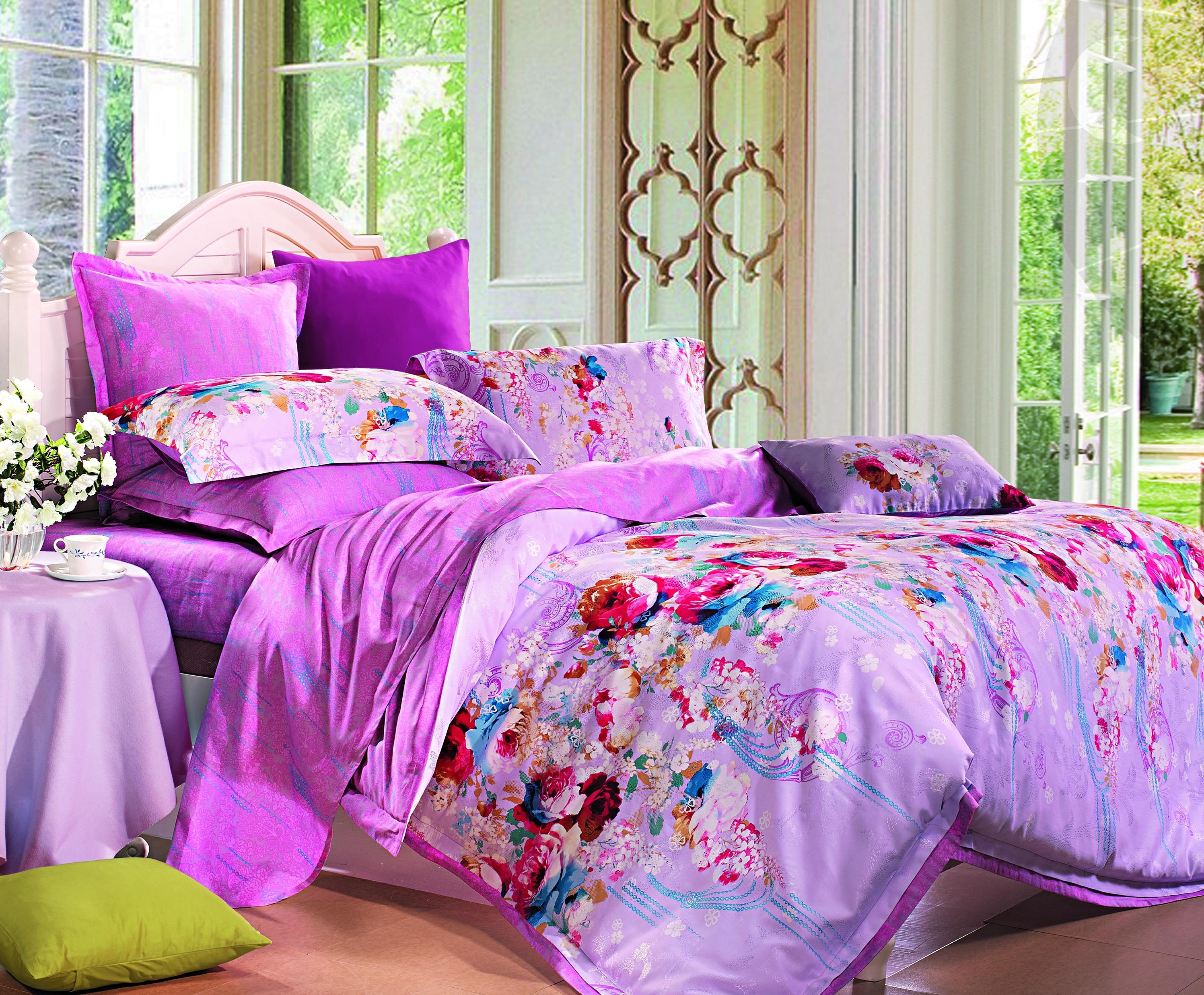 Купить Комплекты постельного белья СайлиД, Постельное белье Whitaker (2 спал.), Китай, Розовый, Хлопковый сатин