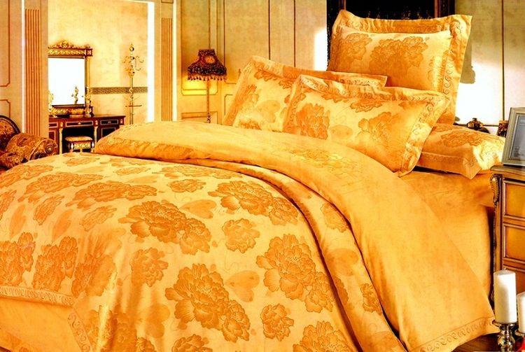 Купить Комплекты постельного белья Tango, Постельное белье Ahiam(семейное), Китай, Золотой, Хлопковый сатин