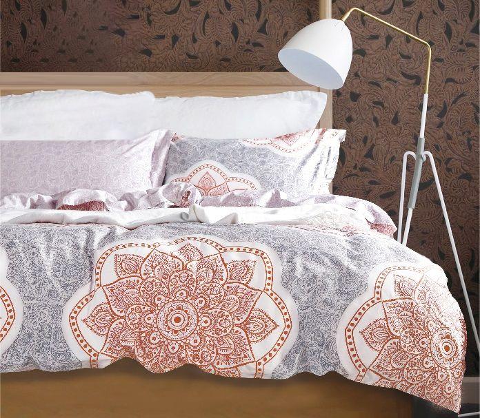 Купить Комплекты постельного белья Tango, Постельное бельеRaelyn(2 спал.), Китай, Голубой, Красный, Хлопковый сатин