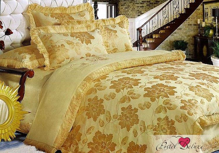 Купить Комплекты постельного белья Tango, Постельное белье Martie (семейное), Китай, Золотой, Хлопковый сатин