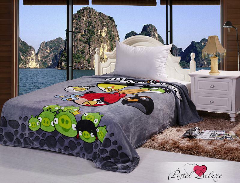 Купить Покрывала, подушки, одеяла для малышей Tango, Детский плед Angry Birds (150х200 см), Китай, Серый, Микрофибра