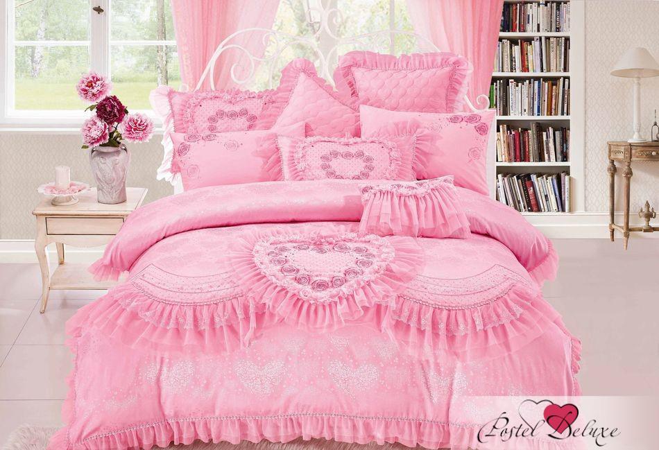Купить Комплекты постельного белья Tango, Постельное белье Oralie (King size (Евро макси)), Китай, Розовый, Хлопковый сатин
