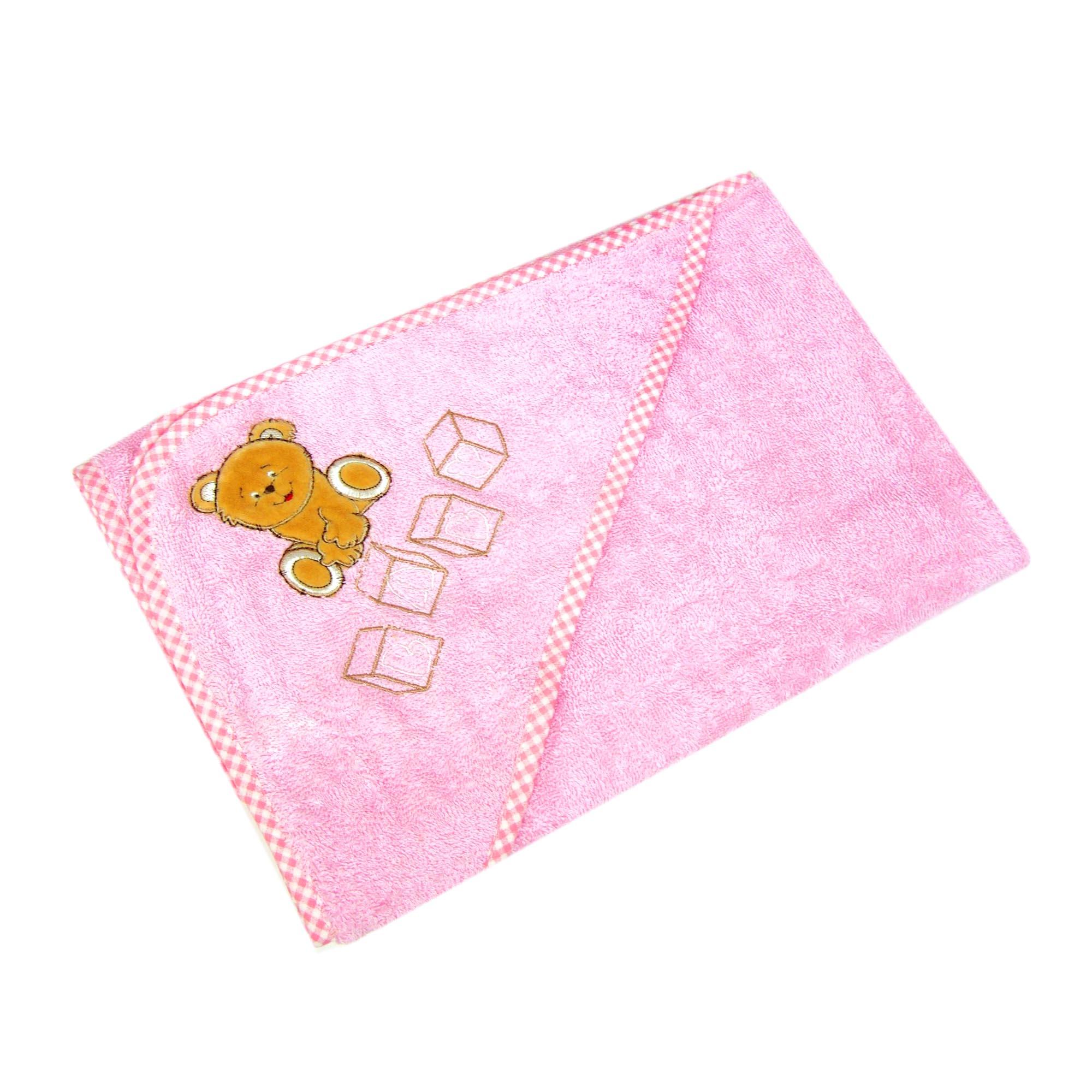 Детское полотенце Teddi Цвет: Розовый (80х80 см) фото