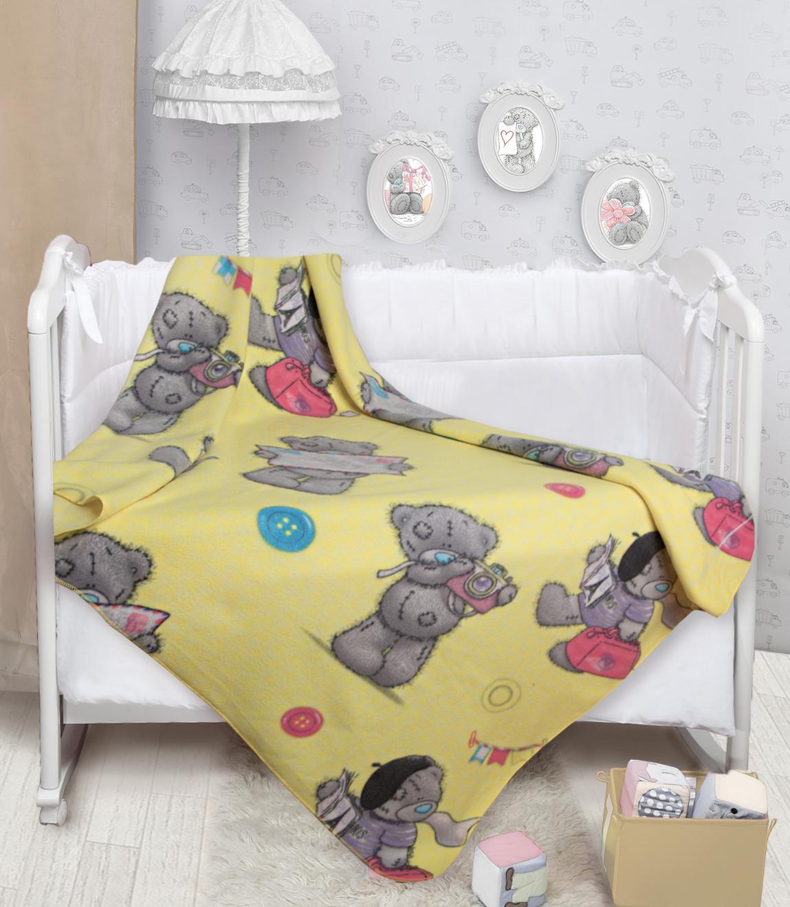 Купить Покрывала, подушки, одеяла для малышей Mona Liza, Детский плед Teddy Путешественник (150х200 см), Россия, Желтый, Серый, Синтетический флис