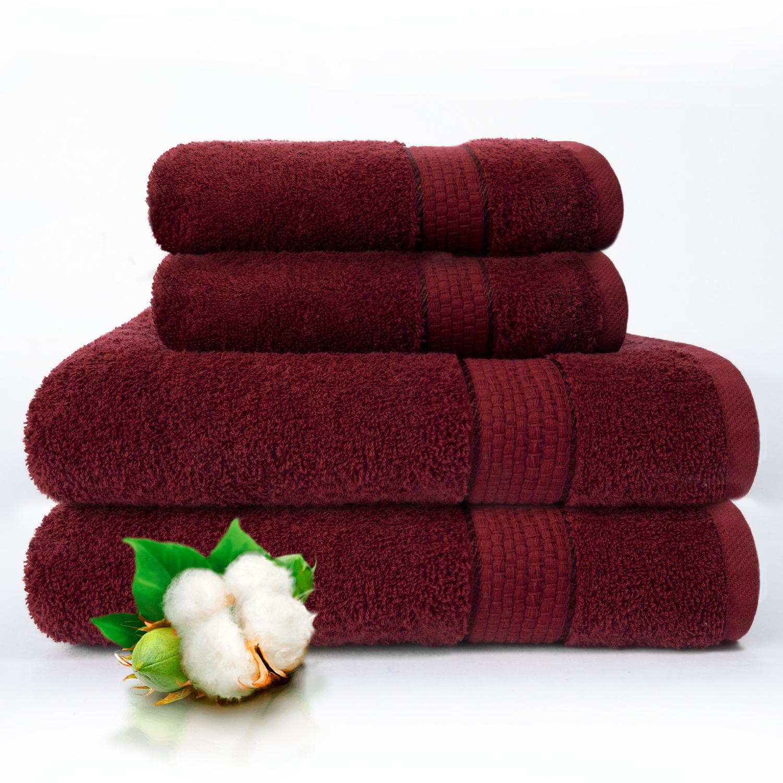 Набор из 4 полотенец Marakesh Цвет: Бордовый (50х90 см - 2 шт, 70х140 см - 2 шт)