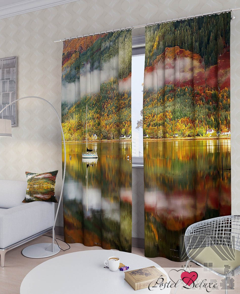 Шторы ТомДом Фотошторы Осеннее Озеро