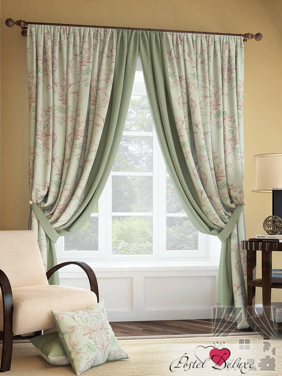 Купить Шторы ТомДом, Классические шторы Инцас Цвет: Зеленый, Россия, Портьерная ткань