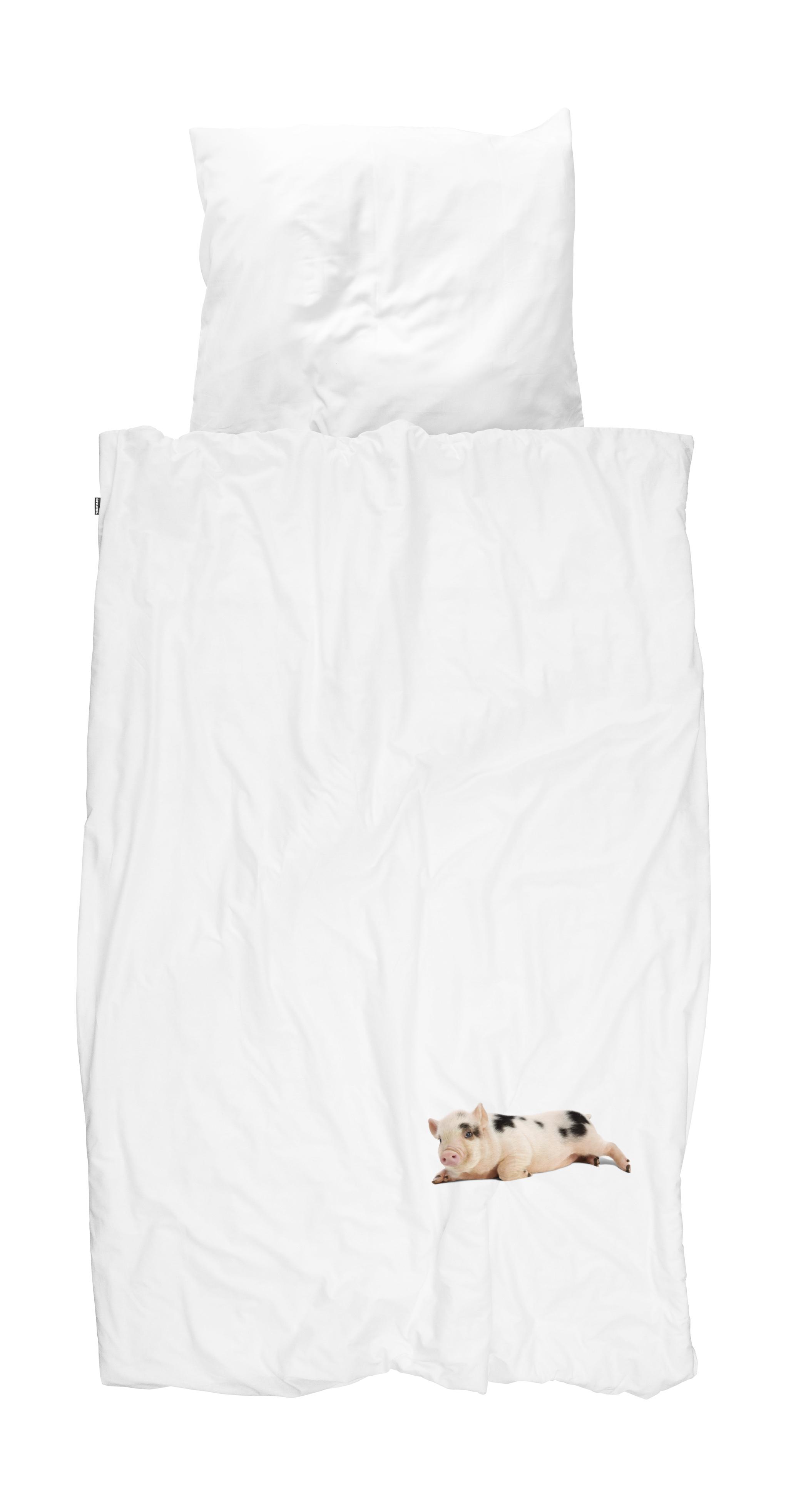 Купить Комплекты постельного белья Snurk, Детское Постельное белье Поросенок Цвет: Белый (150х200 см), Нидерланды, Перкаль