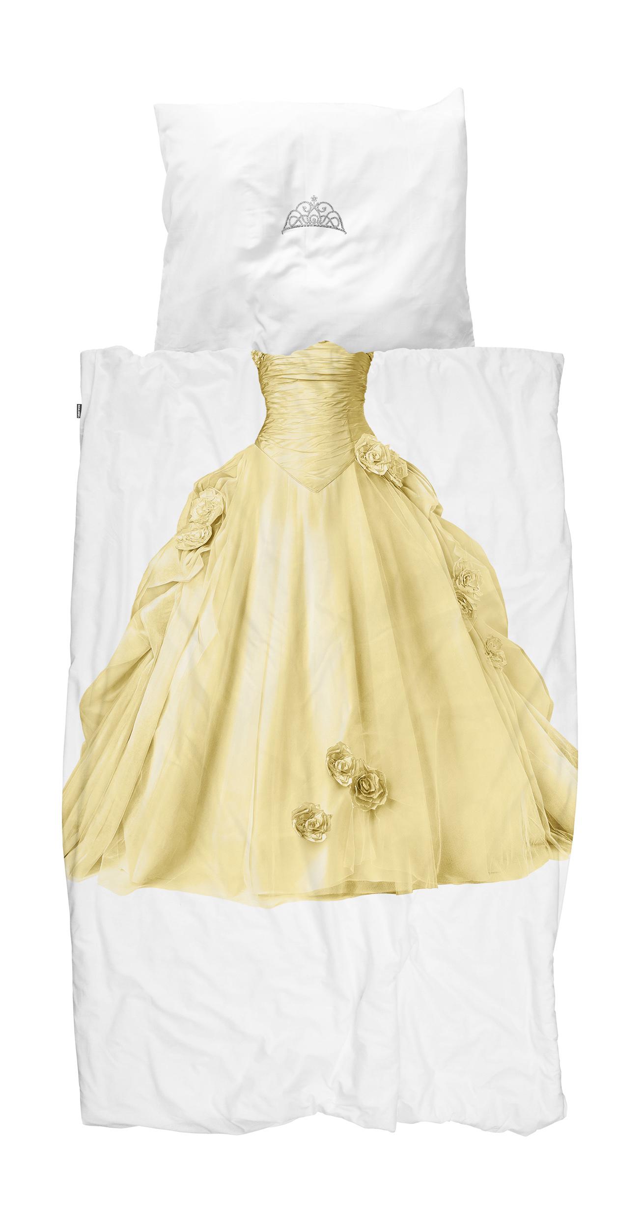 Купить Детское постельное белье Snurk, Детское Постельное белье Принцесса Цвет: Желтый (150х200 см), Нидерланды, Перкаль