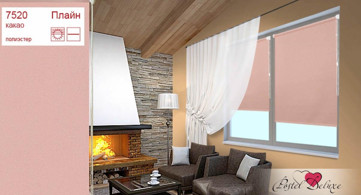 Римские и рулонные шторы Уют Рулонные шторы Плайн Цвет: Какао